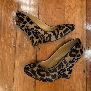 Nine West Calf Hair Leopard Wedge